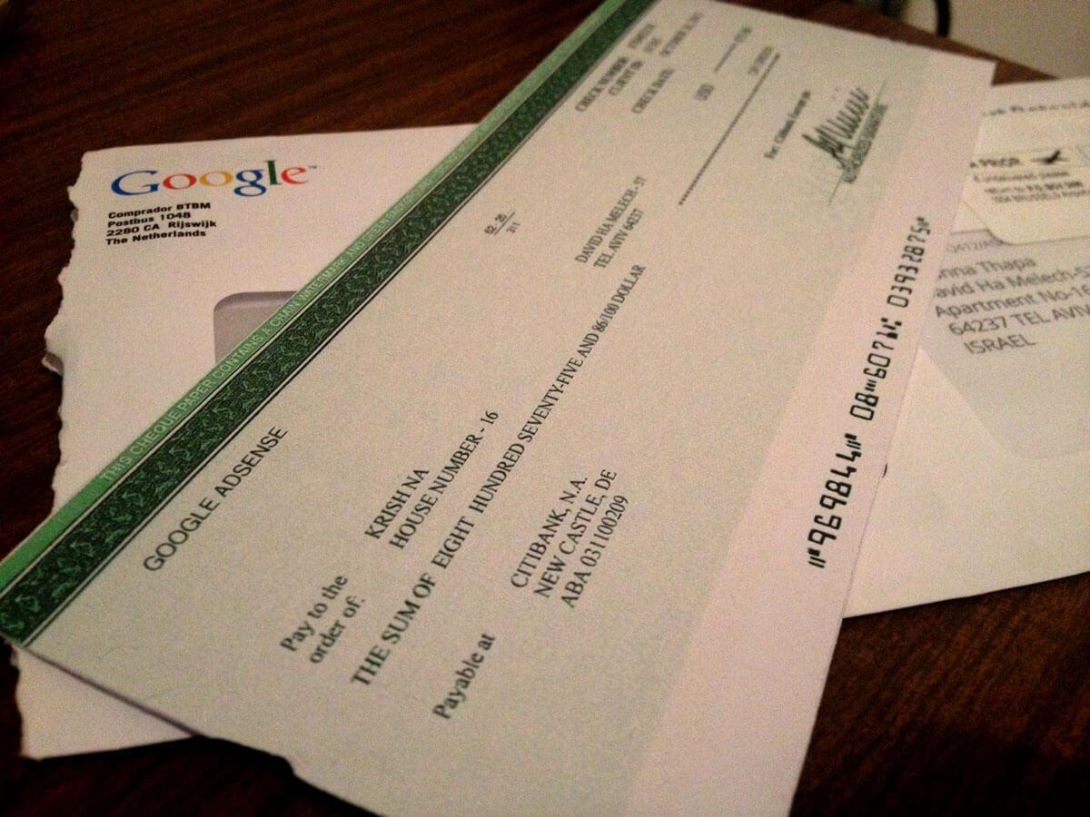 Можно ли обналичить чек Гугл Adsense в Беларуси