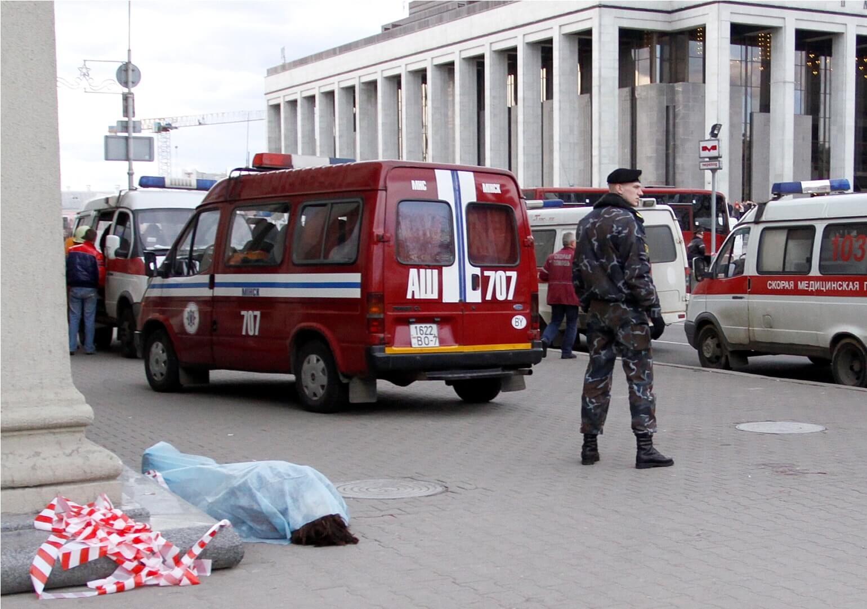 Взрыв в Минске - Взрыв на станции метро Октябрьская в Минске. Много жертв и пострадавших